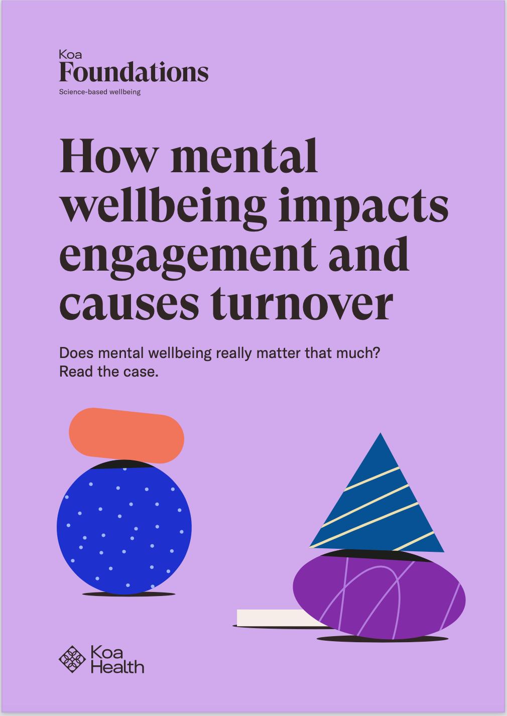 Portada del estudio de impacto de bienestar mental con imágenes de Koa Foundations