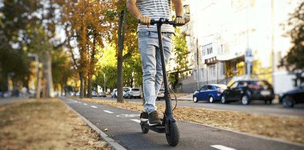 Reviewing the best electric scooters on a bicycle path