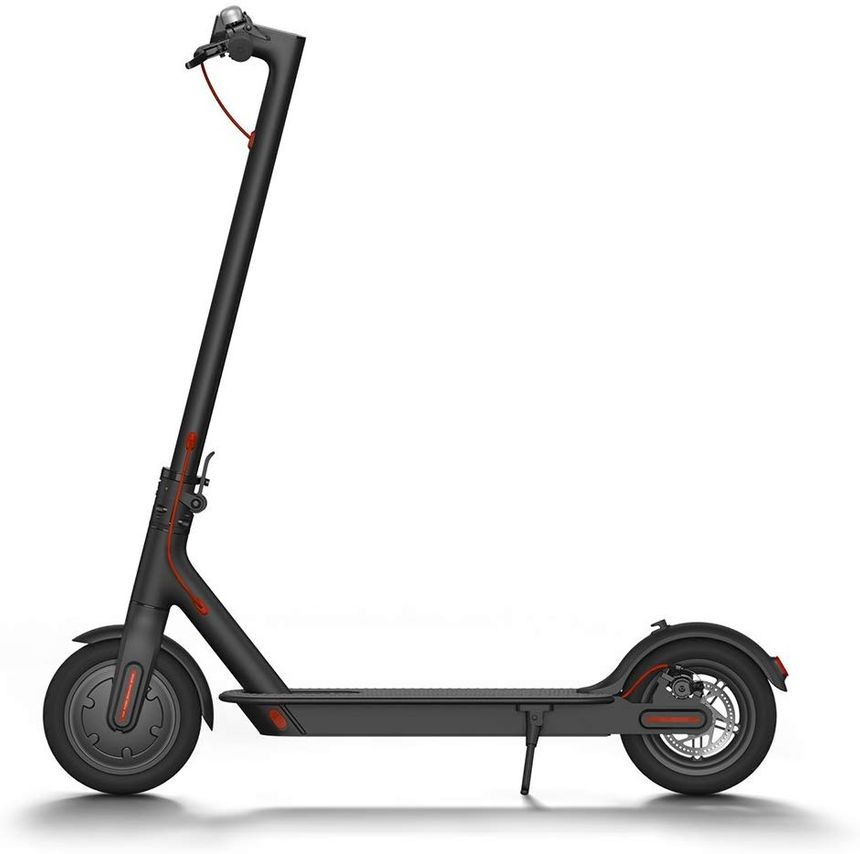 Electric scooter Xiaomi Mi M365 seen from the side.