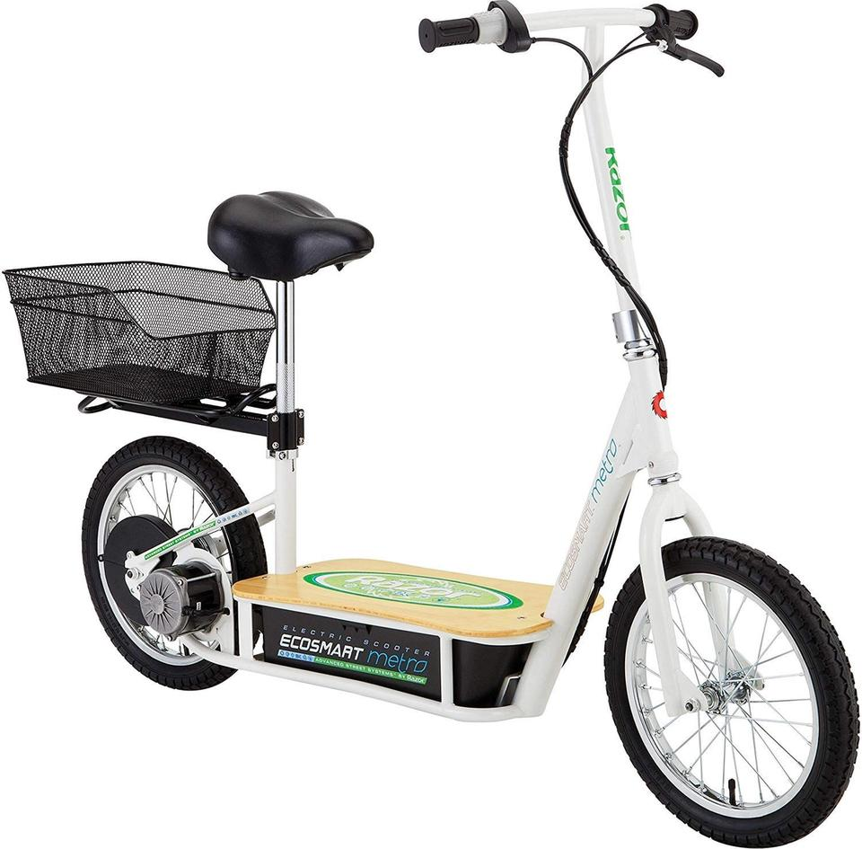 The Razor Ecosmart Metro electric scooter that was reviewed in this article.