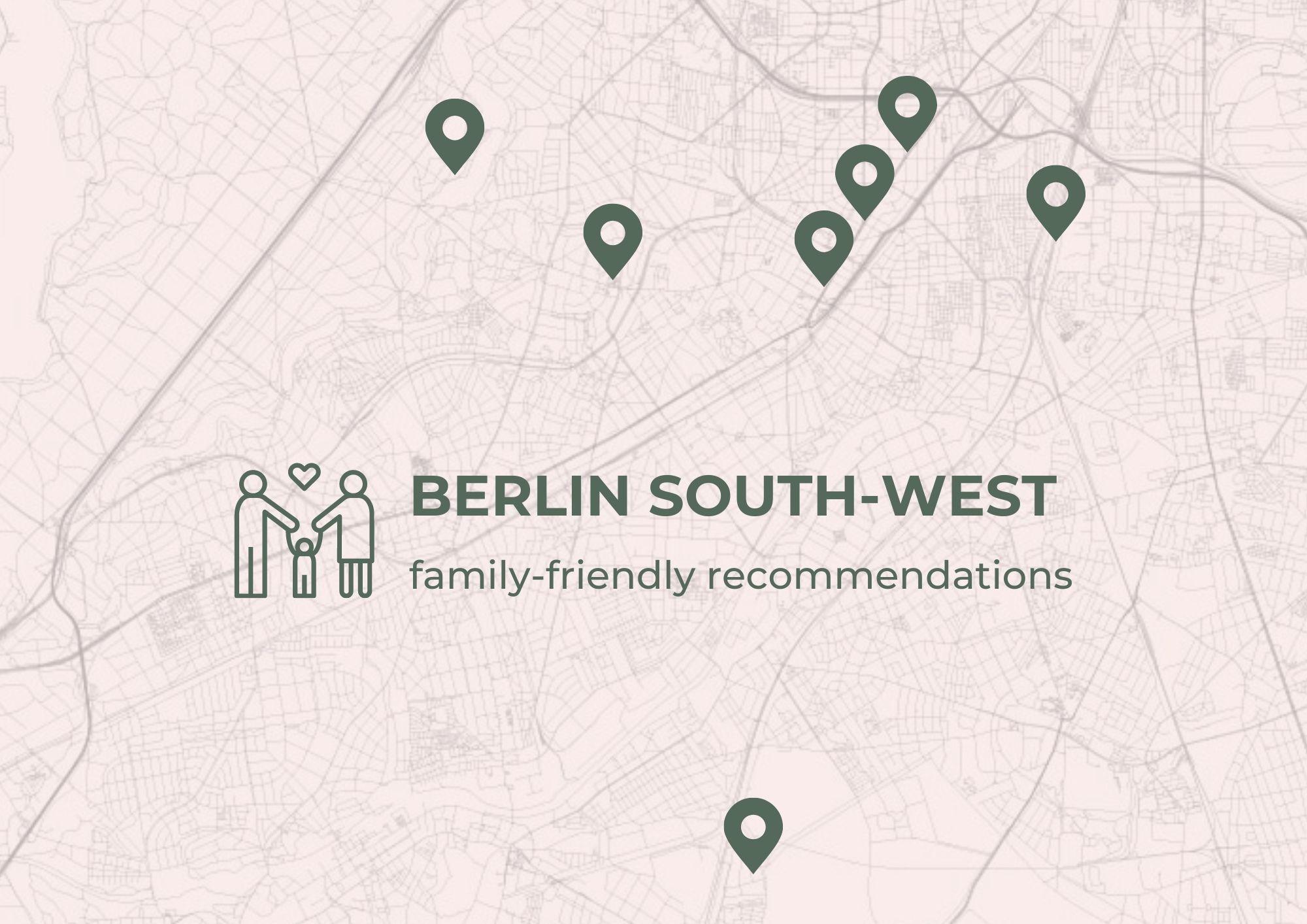 Southwest Berlin map