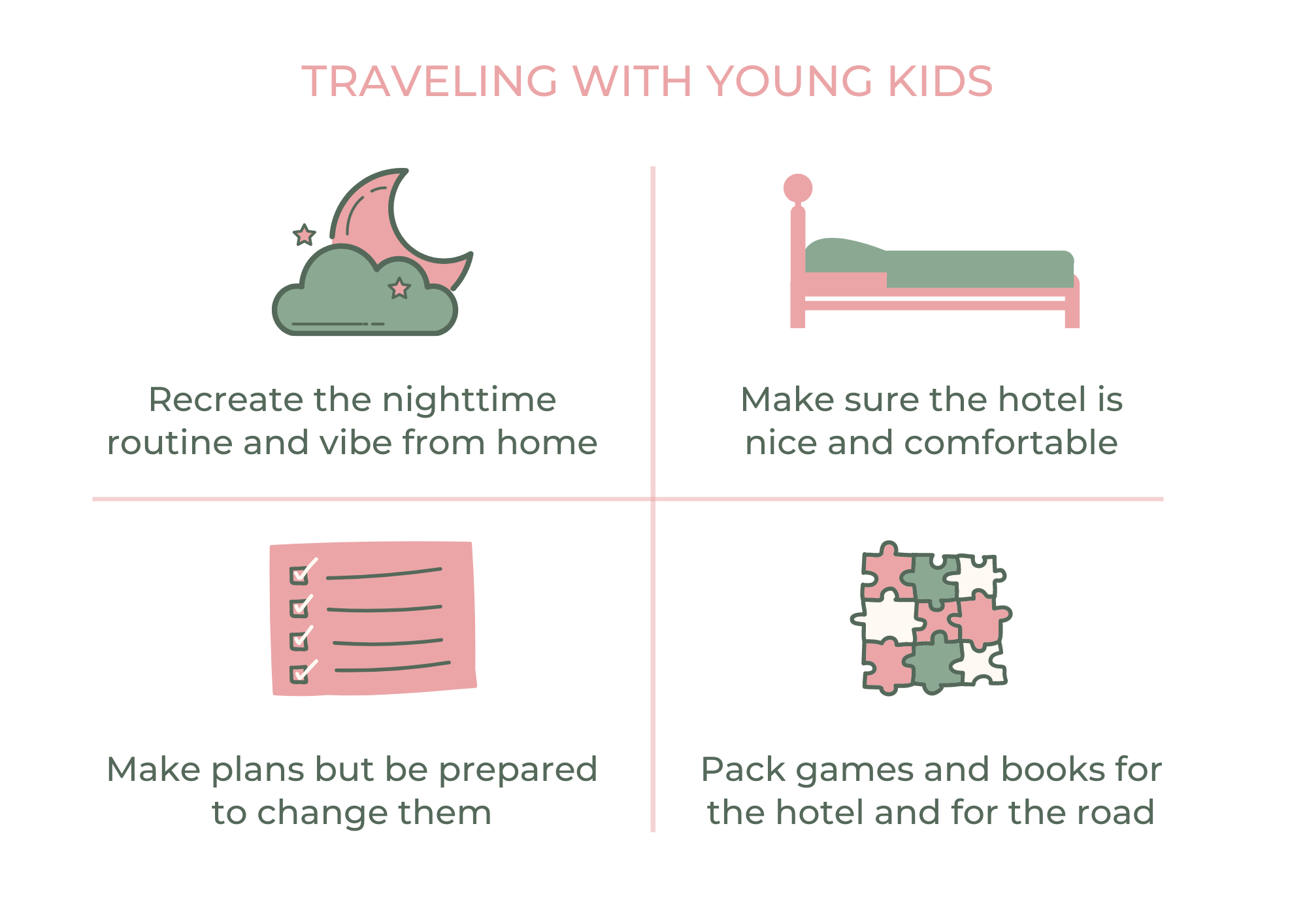 Four tips to travel with young kids