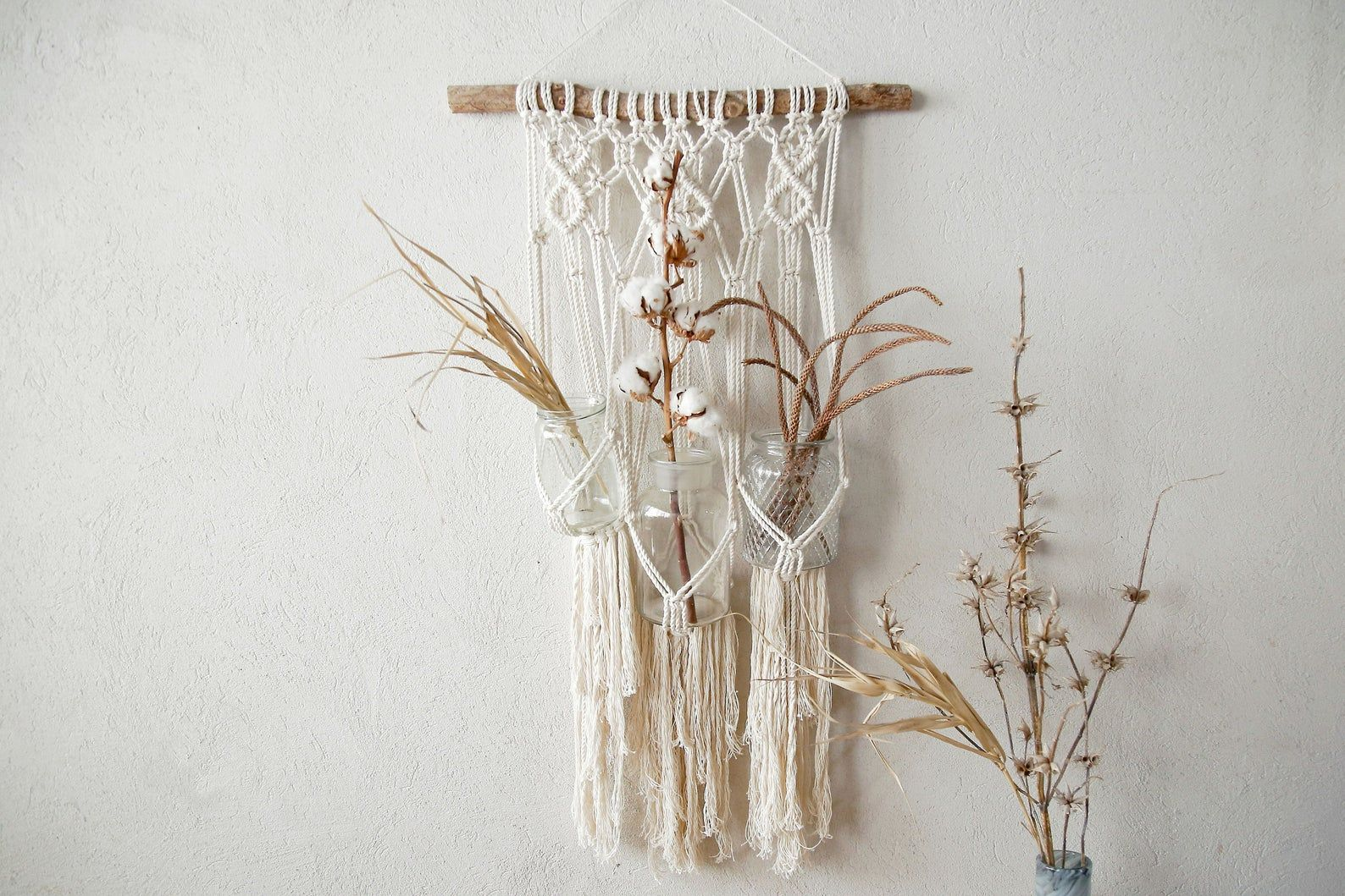 Macrame trio plant hanger by Nomamacrame