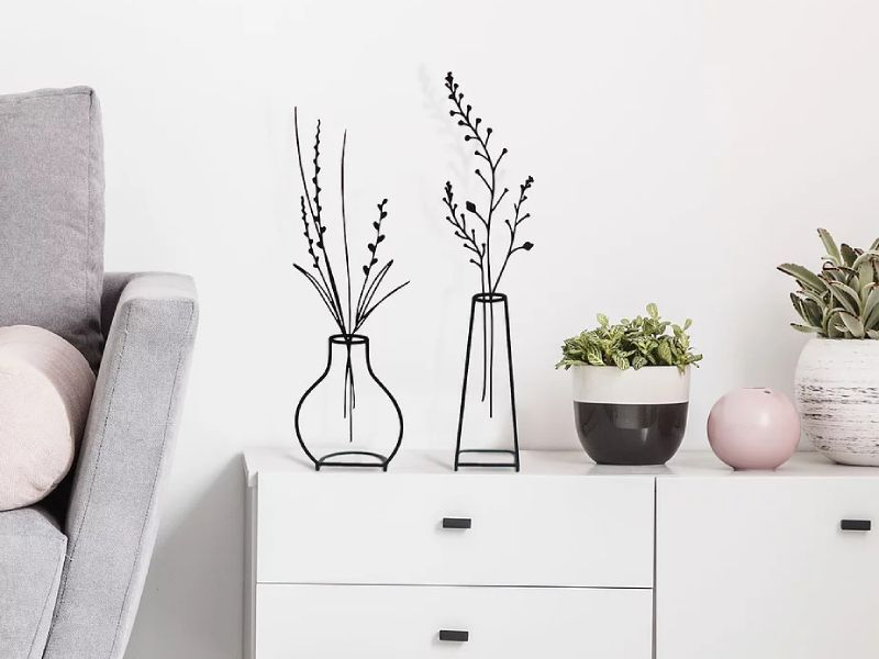 Metal Vase Stand by Glyphs Design