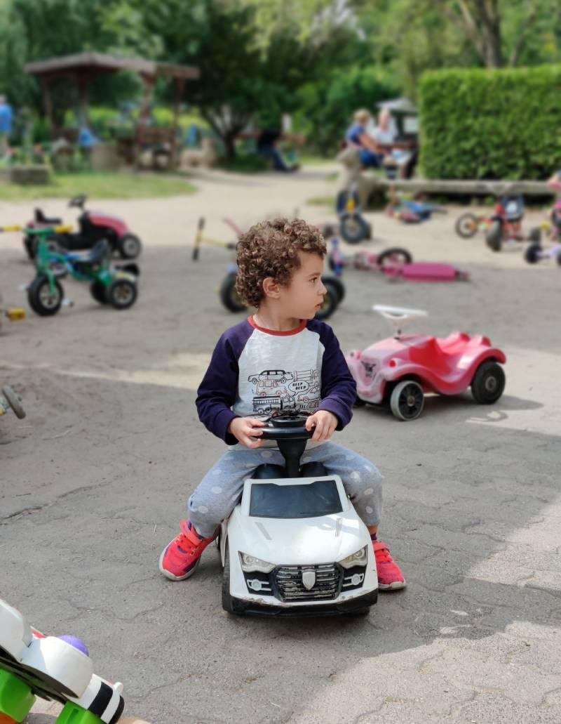 Driving around the park