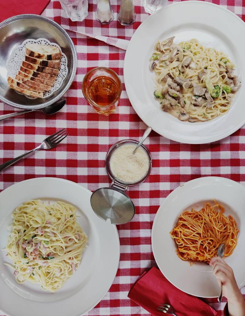 Italien lunch at Königs Wusterhausen town center