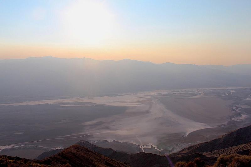 Dante's View in Death Valley - Smoke season