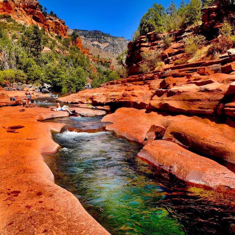 Slide rock swimming holes
