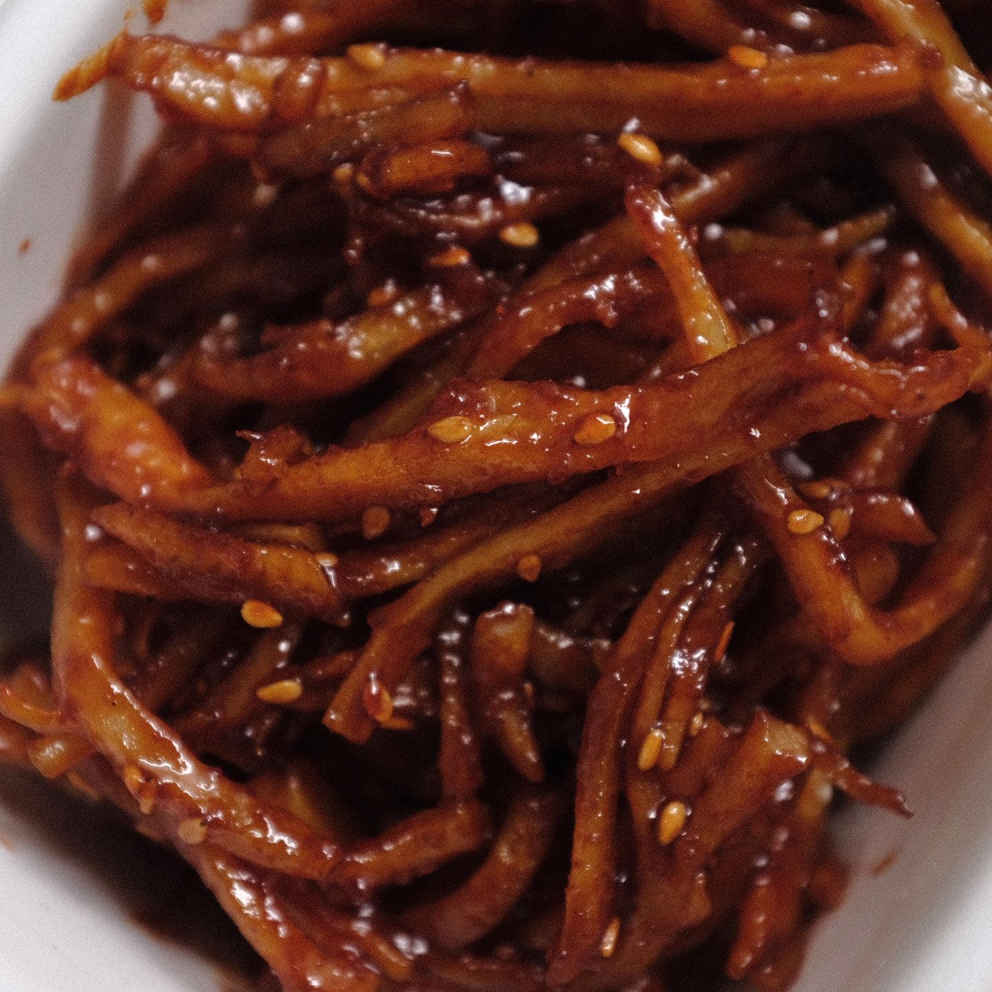 Stir-fried dried squid