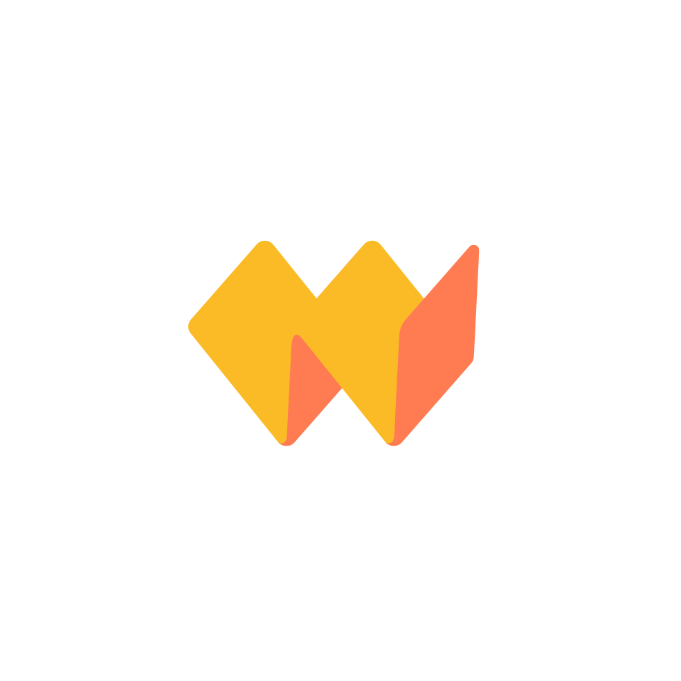 "An unused ""W"" logo formed by folders"