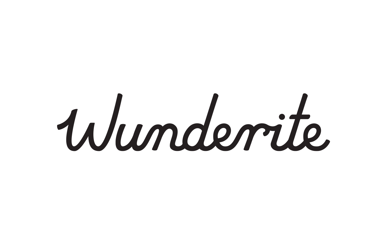 An abandoned handwritten version of the logo