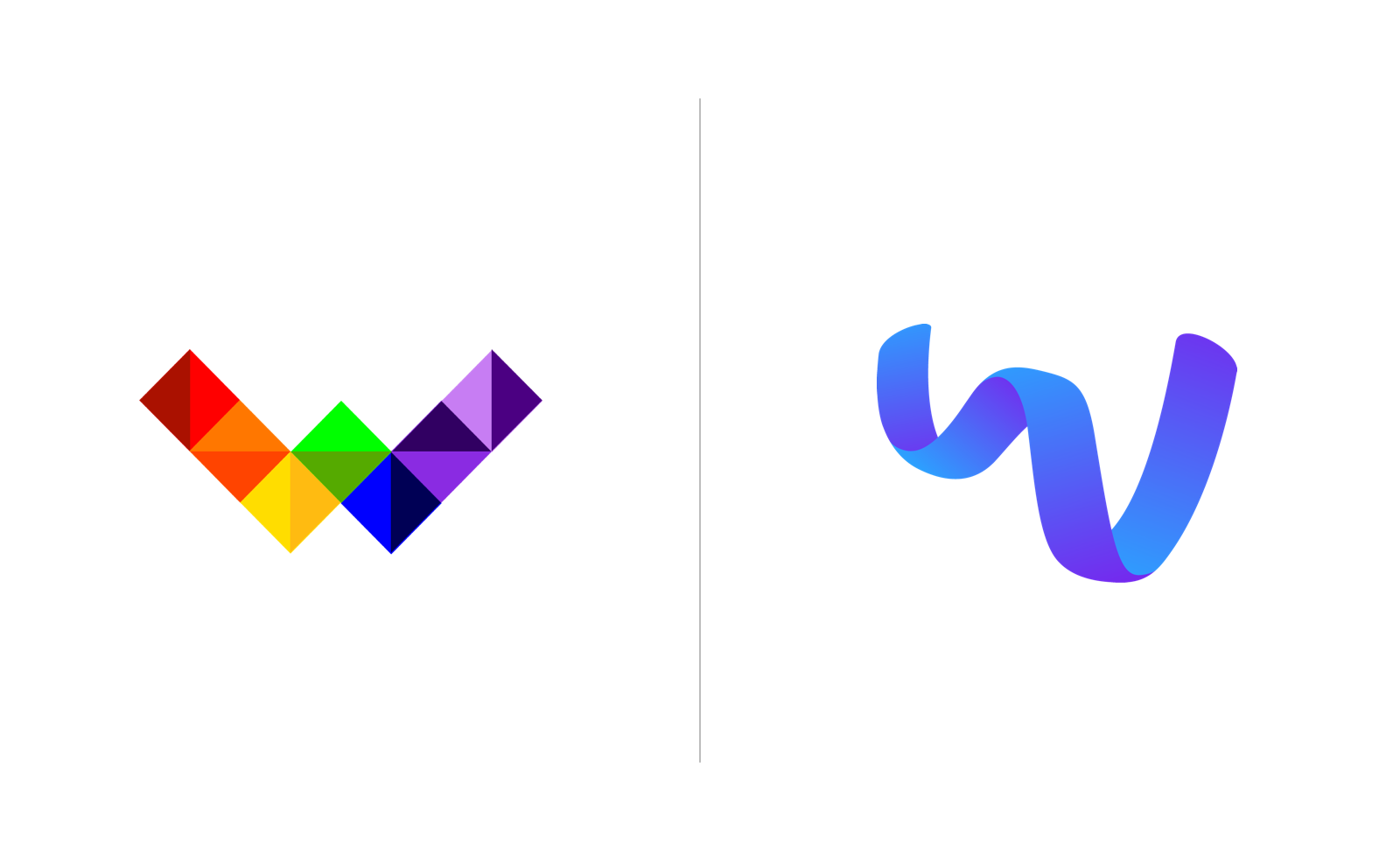 A comparison of Wunderite's original logo and the one we newly crafted.