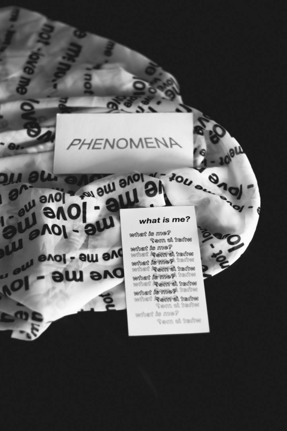 Phenomena label card