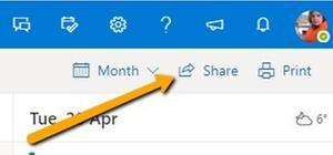 Deling av kalender i Outlook