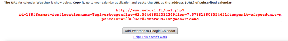 Generert URL