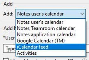 add iCalendar feed