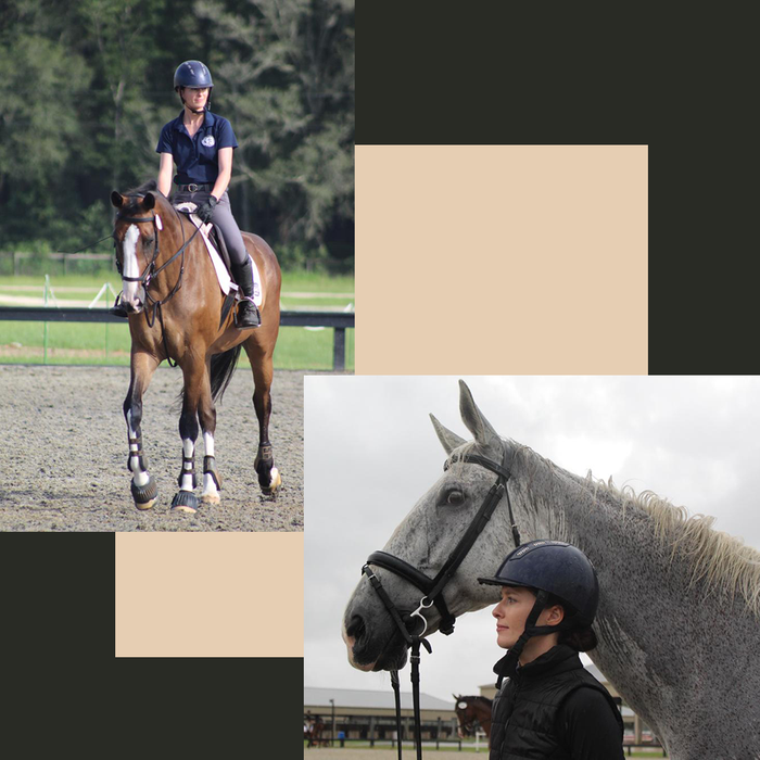 Leanne working as an Equine Coach in Orlando, Florida.