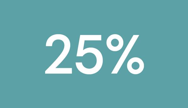 25% Incentive