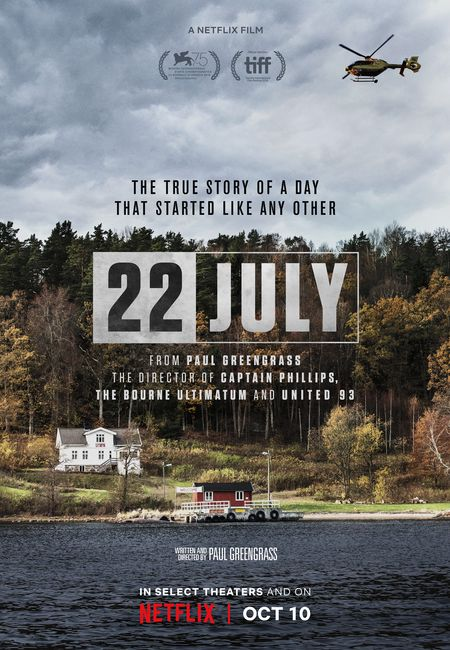 Poster for the movie 22 July