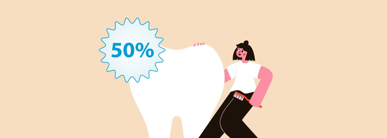 Få igjen 50% av tannlegeregningen