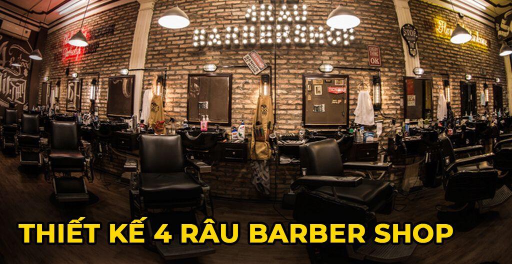 thiết kế 4 râu barber shop