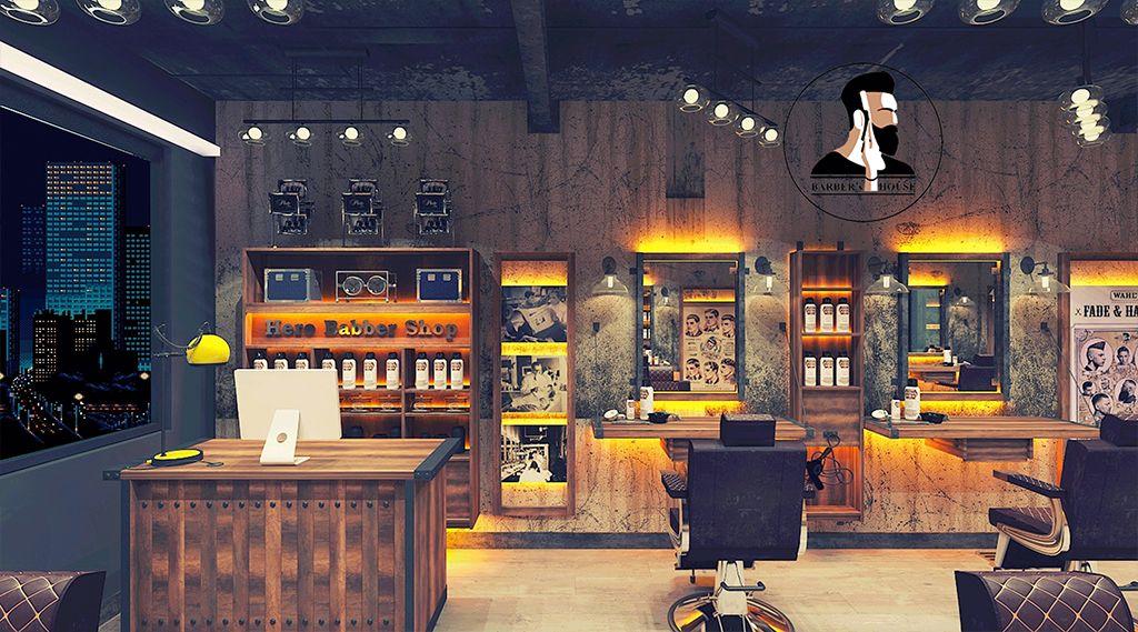 thiết kế barber shop