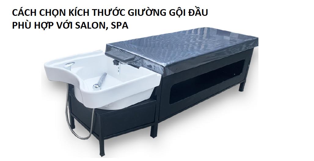 cách chọn kích thước giường gội đầu phù hợp với salon, spa