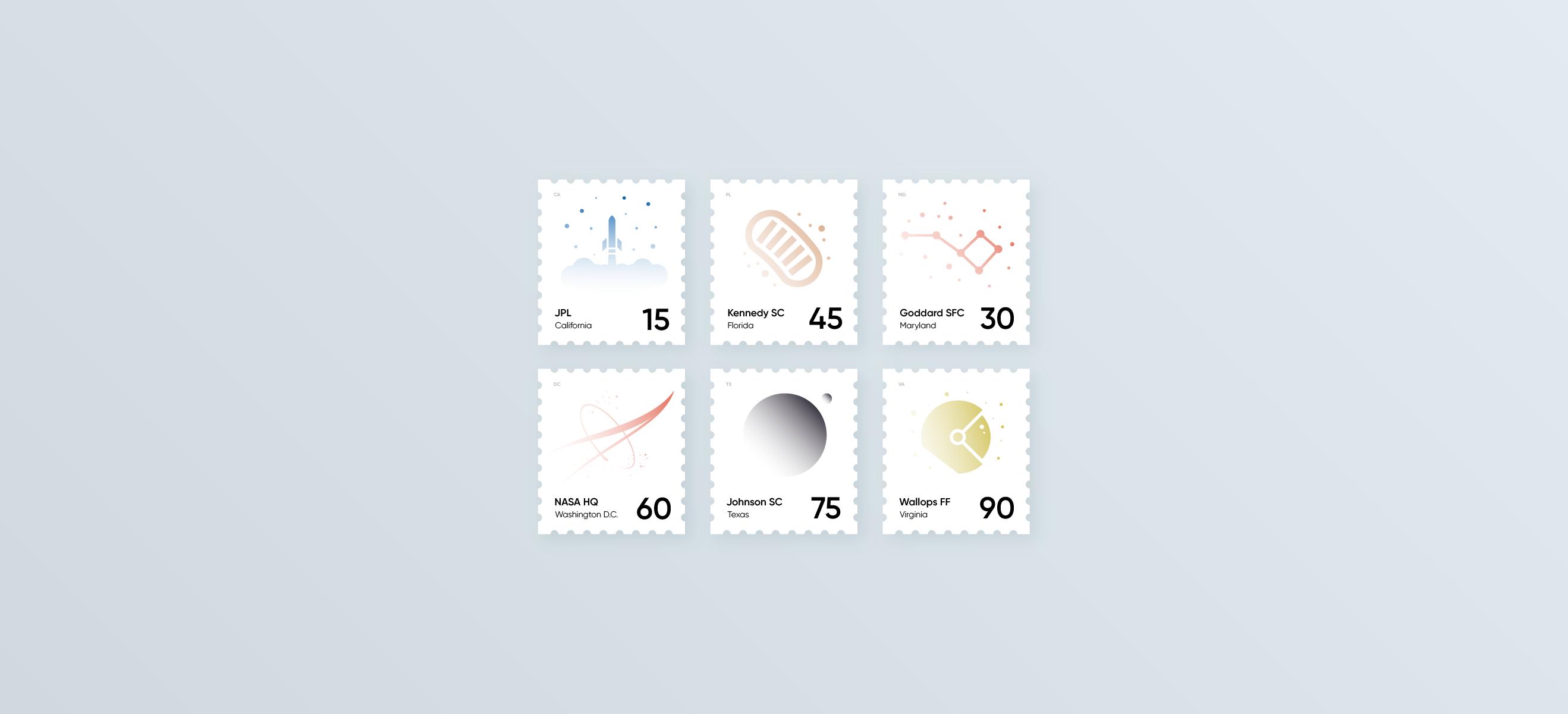 NASA Stamps