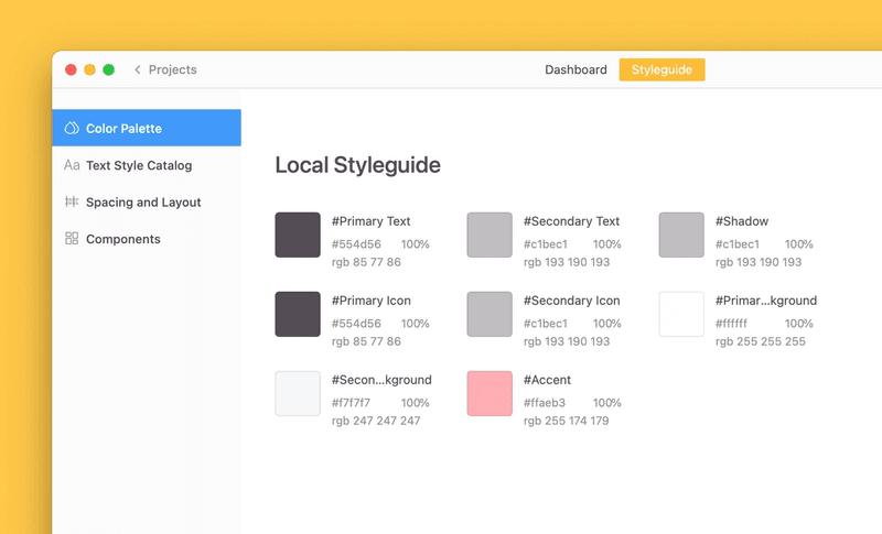 Create semantic colors with Zeplin