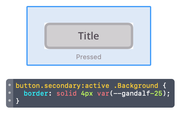 css preview popup window for component variants in Zeplin