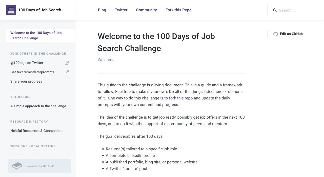 #100DaysOfJobSearch