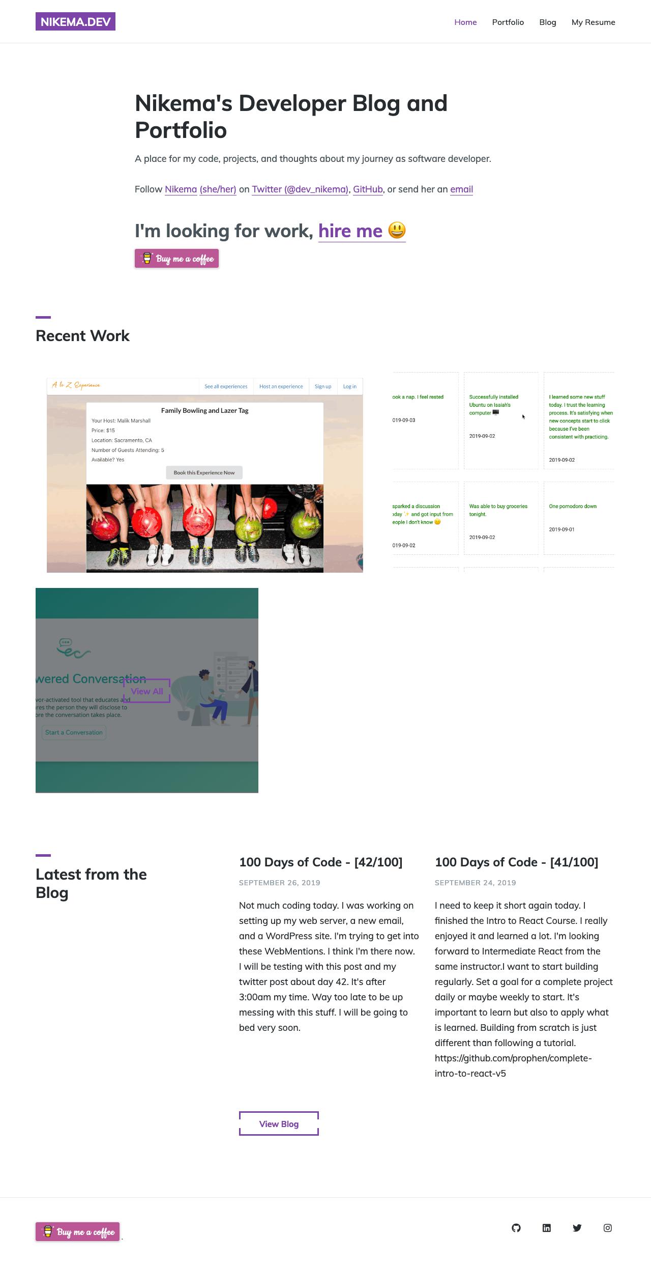 Nikema's Developer Site (old design)