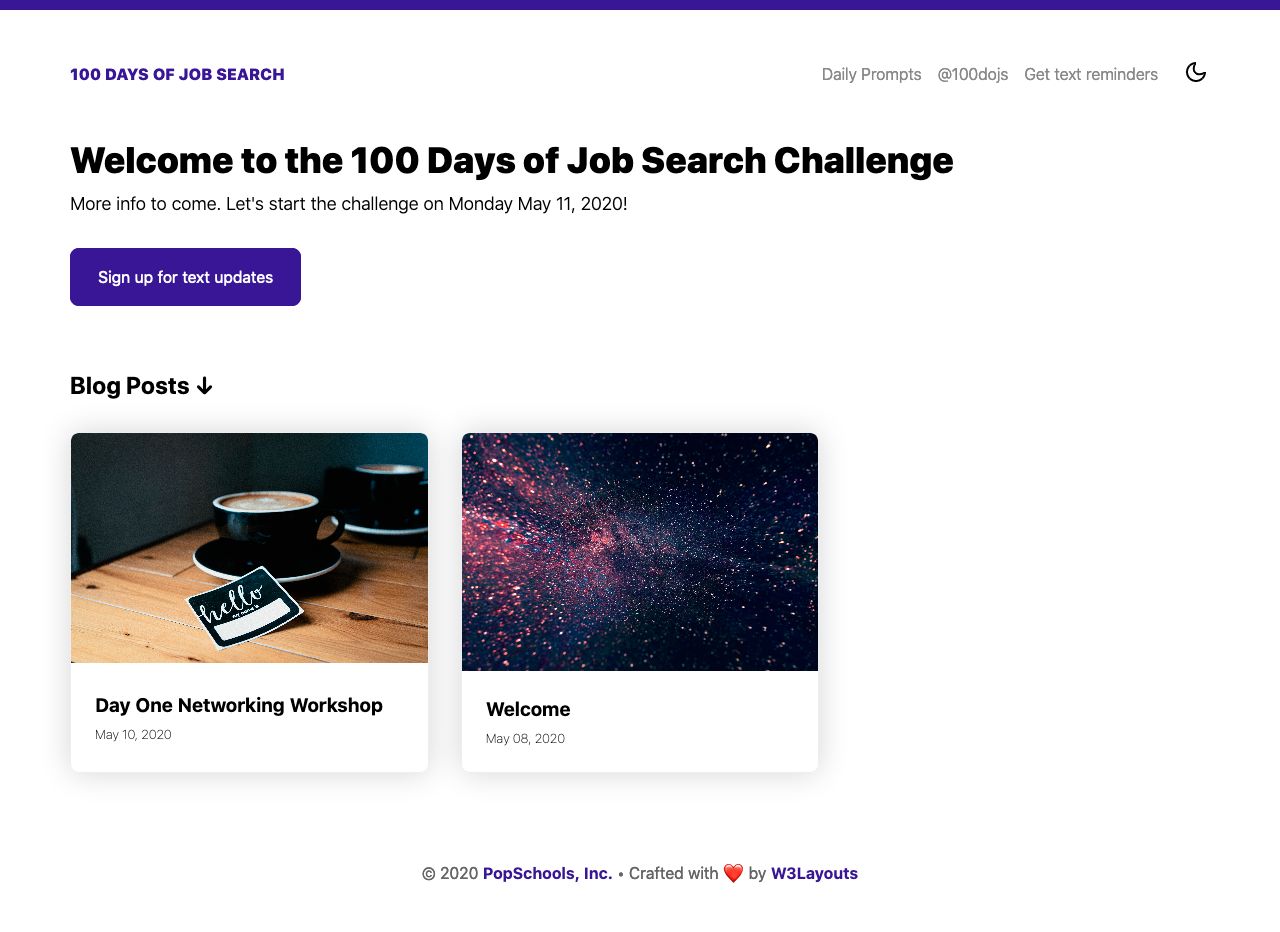 #100DaysOfJobSearch Blog