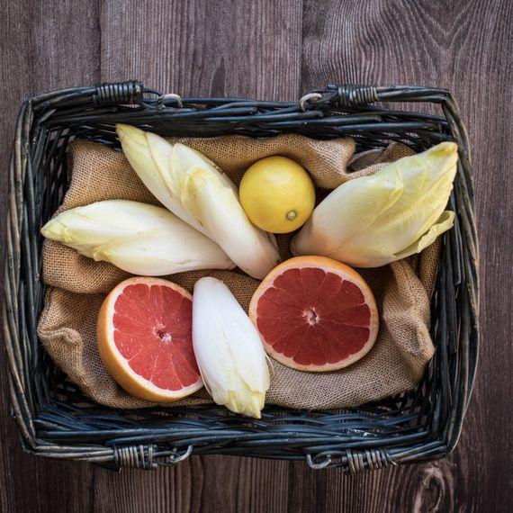 Zutaten Zitrus-Chicorée-Salat