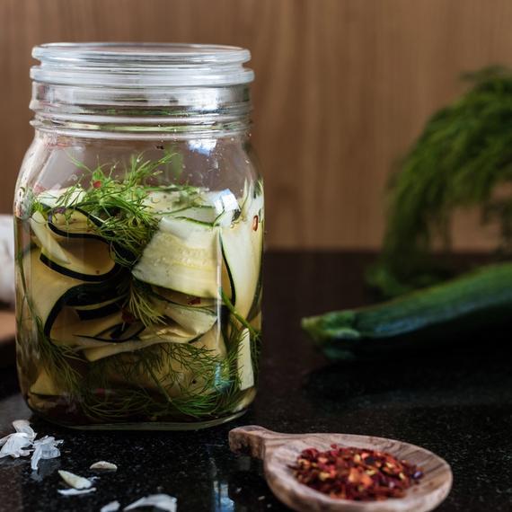 Zutaten Pickled Zucchetti