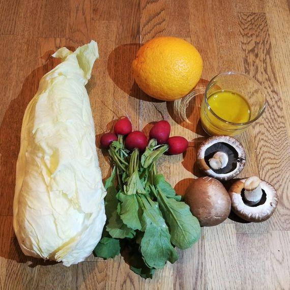 Zutaten Zuckerhutsalat mit Orange