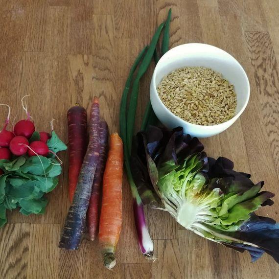 Zutaten Ebly-Salat mit Radiesliblätter-Dressing