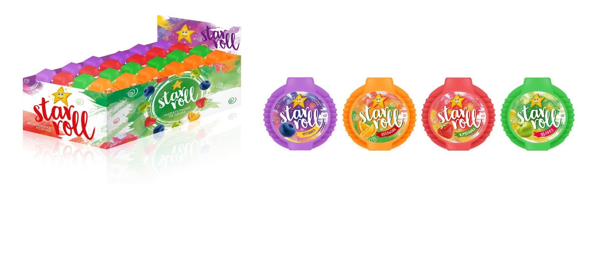 Жевательная резинка с фруктовыми вкусами Star Roll