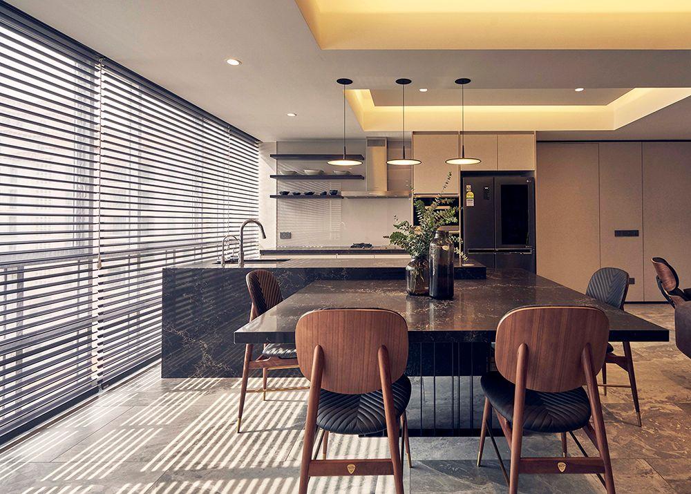 Condo Kitchen Silhouette blinds