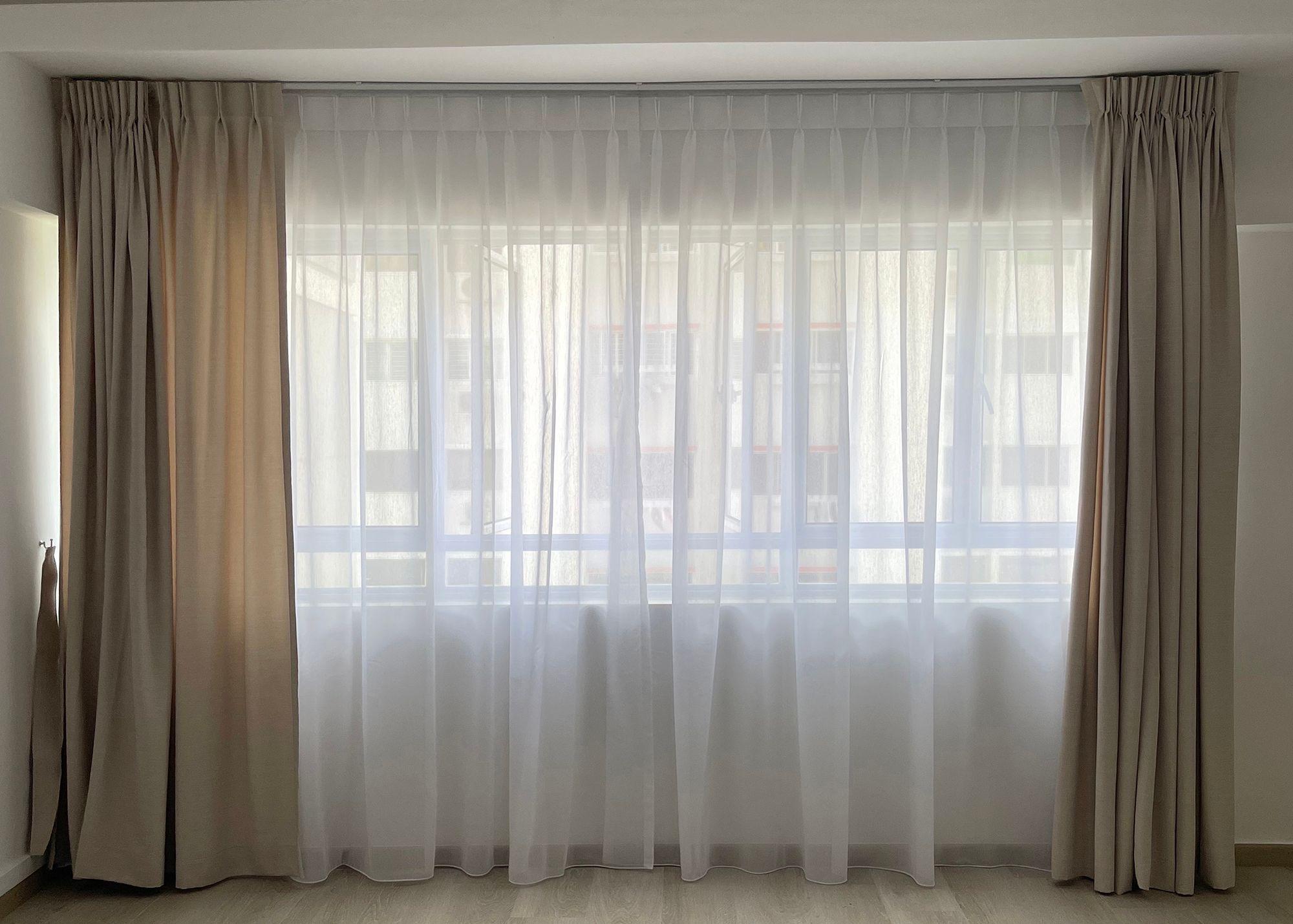 HDB Bedroom Day Night Curtains