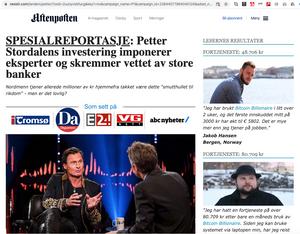 Artikkelen ligger på nettstedet Nexish.com, men ser ut som en artikkel i Aftenposten. Bildene og logoene er stjålet fra andre medier og sammenhenger. De avbildete personene til høyre er ikke de samme som navngis.
