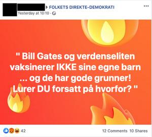 Slik fremmes påstandene om barna til Bill Gates i norske Facebook-grupper