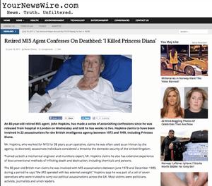 Slik så den originale historien ut da den ble publisert på nettstedet YourNewsWire.com i sommer.