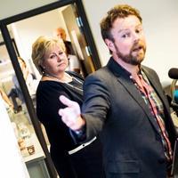 Erna Solberg og Torbjørn Røe Isaksen.