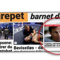 Svindlerne har kjøpt annonseplass på forsiden av Dagbladet.no, og bruker de samme visuelle virkemidlene som avisen for å lure leserne til å tro at de klikker seg inn i en Dagbladet-artikkel.