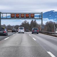 Motorvei sør for Munchen i Tyskland.