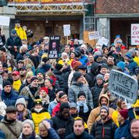 Bildet er fra demonstrasjonen mot koronatiltakene i Oslo 28. november.