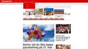 Dagmagasinet har en grafisk utforming på nettsiden sin, som ligner på utformingen til Dagbladet.