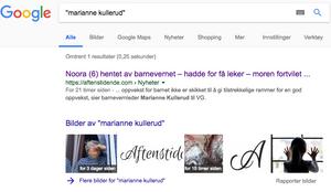 Barnevernleder Marianne Kullerud finnes ikke.