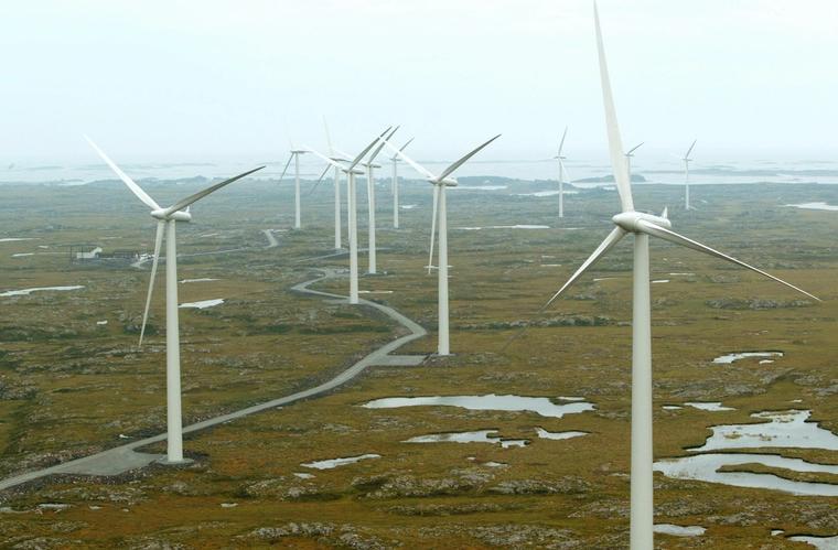 Smøla vindpark var Europa største vindkraftanlegg på land da den åpnet i 2002.